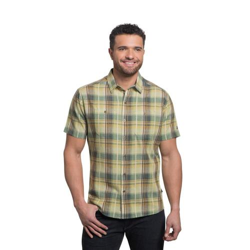 KUHL Men's Skorpio Regular Short Sleeve Shirt Agavegold