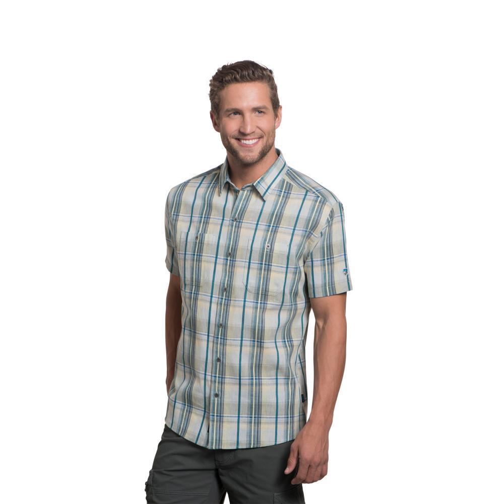 KUHL Men's Skorpio Regular Short Sleeve Shirt SAILBLUE
