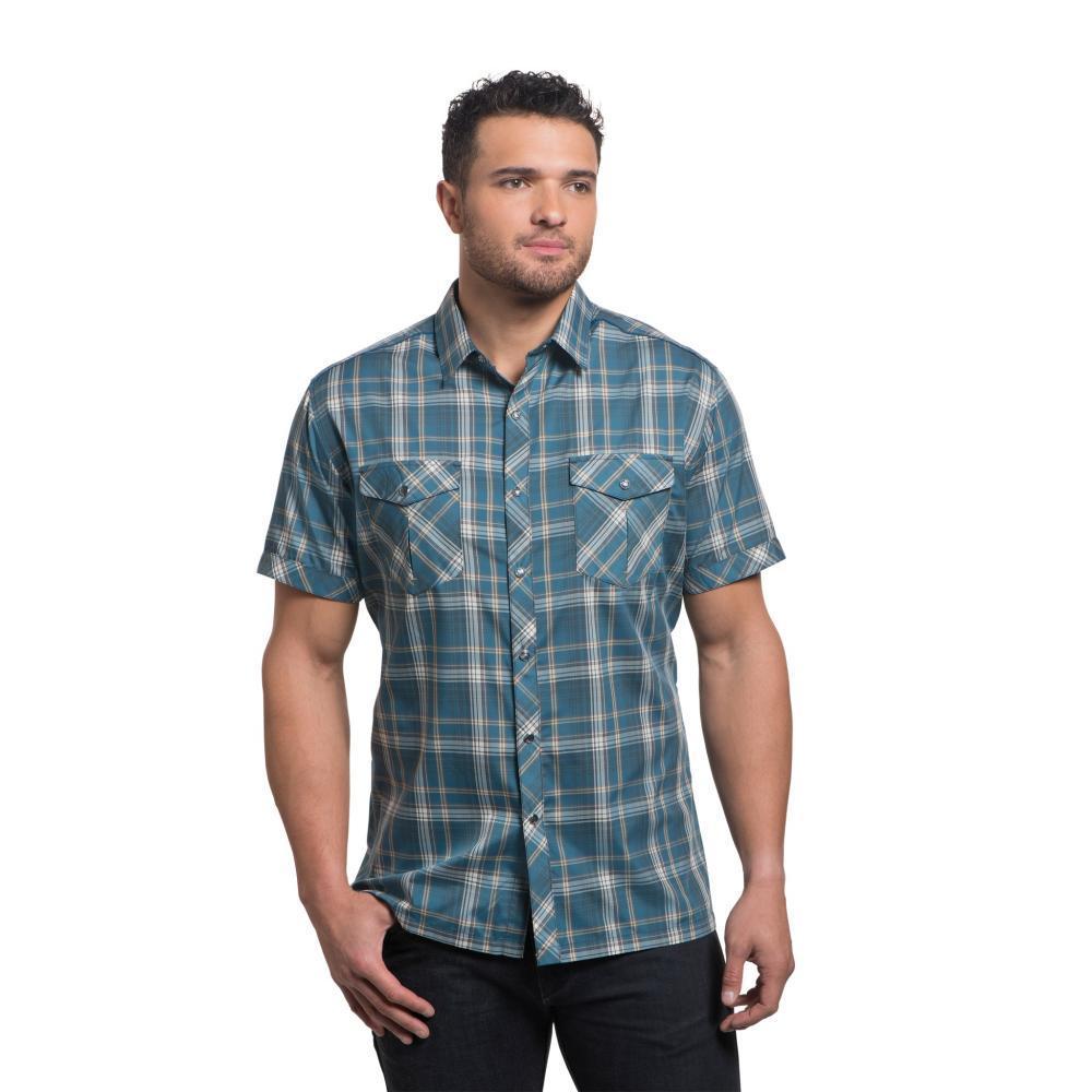 KUHL Men's Konquer Short Sleeve Shirt HARBOR