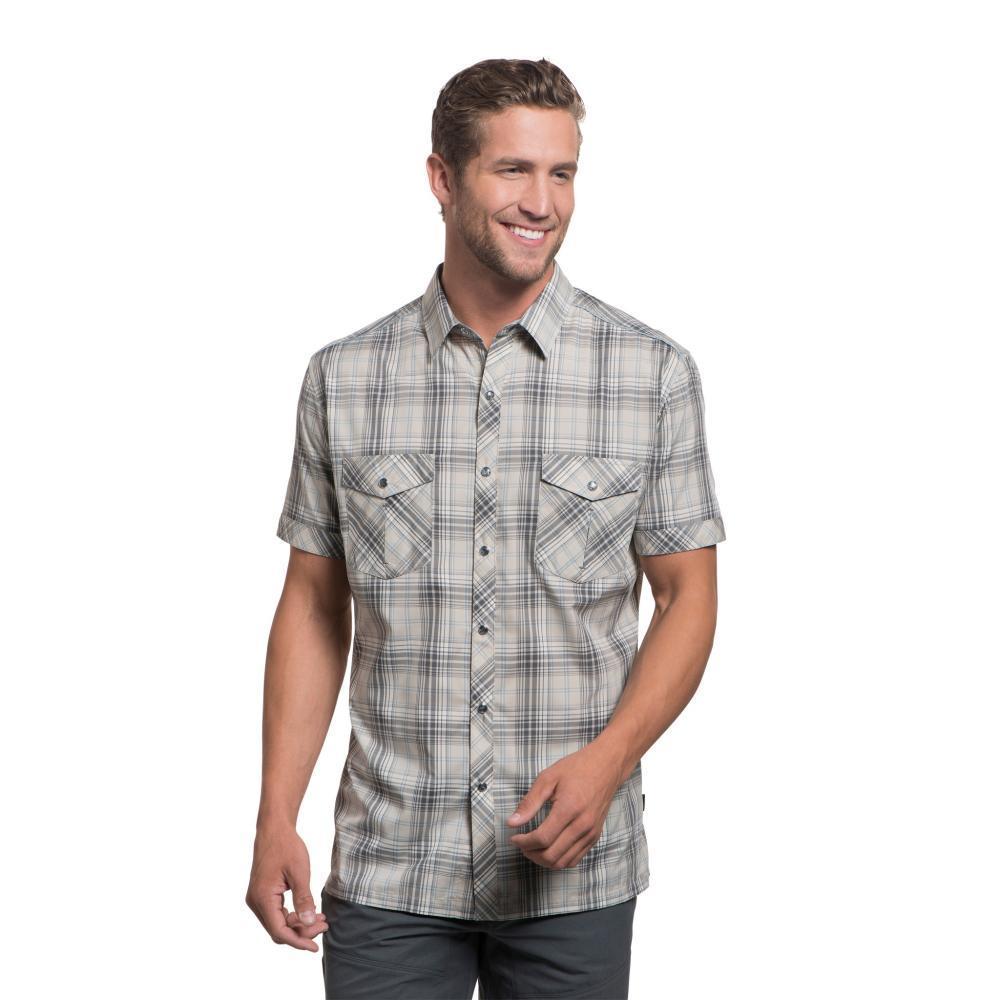 KUHL Men's Konquer Short Sleeve Shirt SANDDUNE