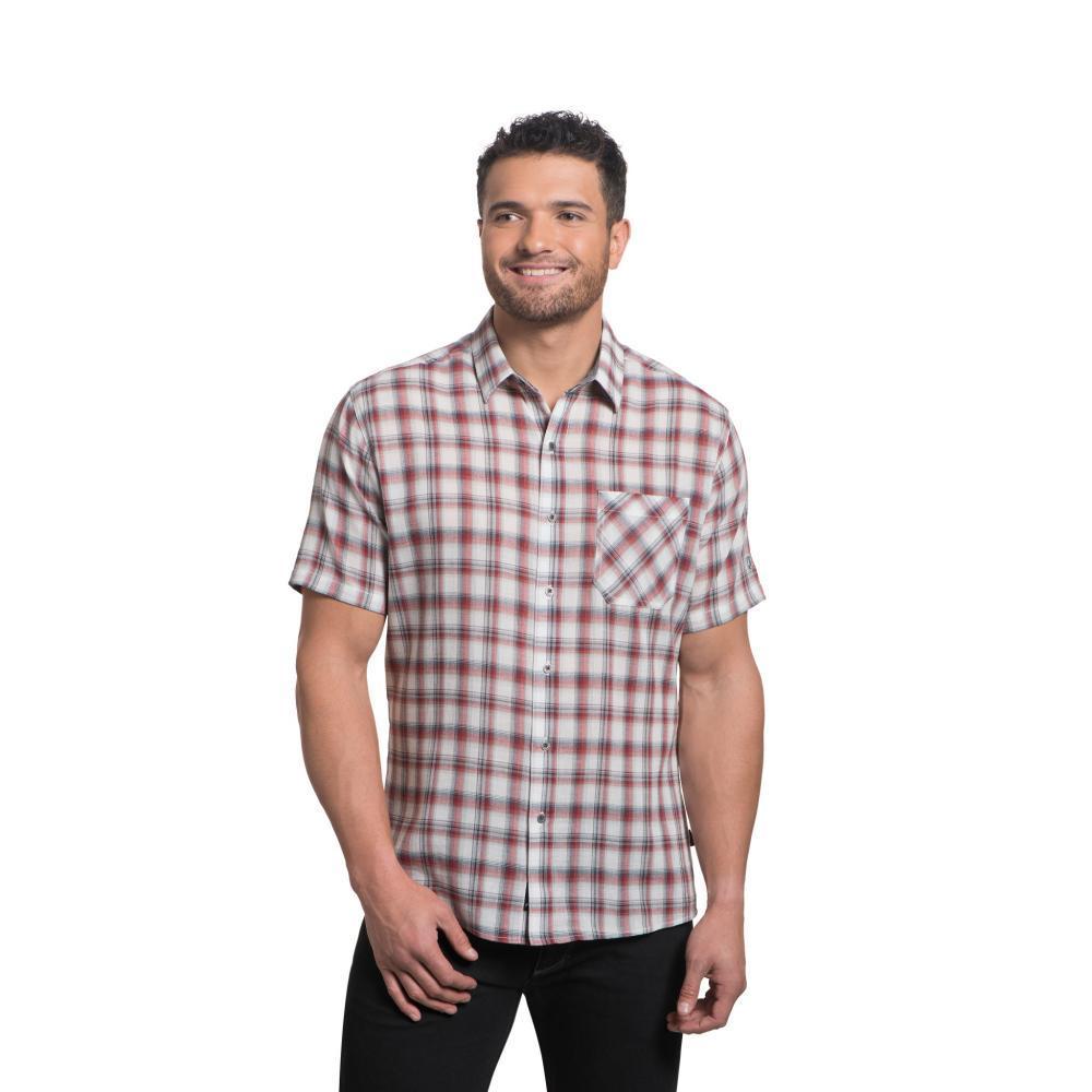 KUHL Men's Tropik Short Sleeve Shirt CRANBERRY