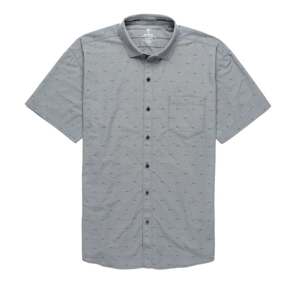 KUHL Men's Intrepid Short Sleeve Tapered Fit Shirt ASPHALT