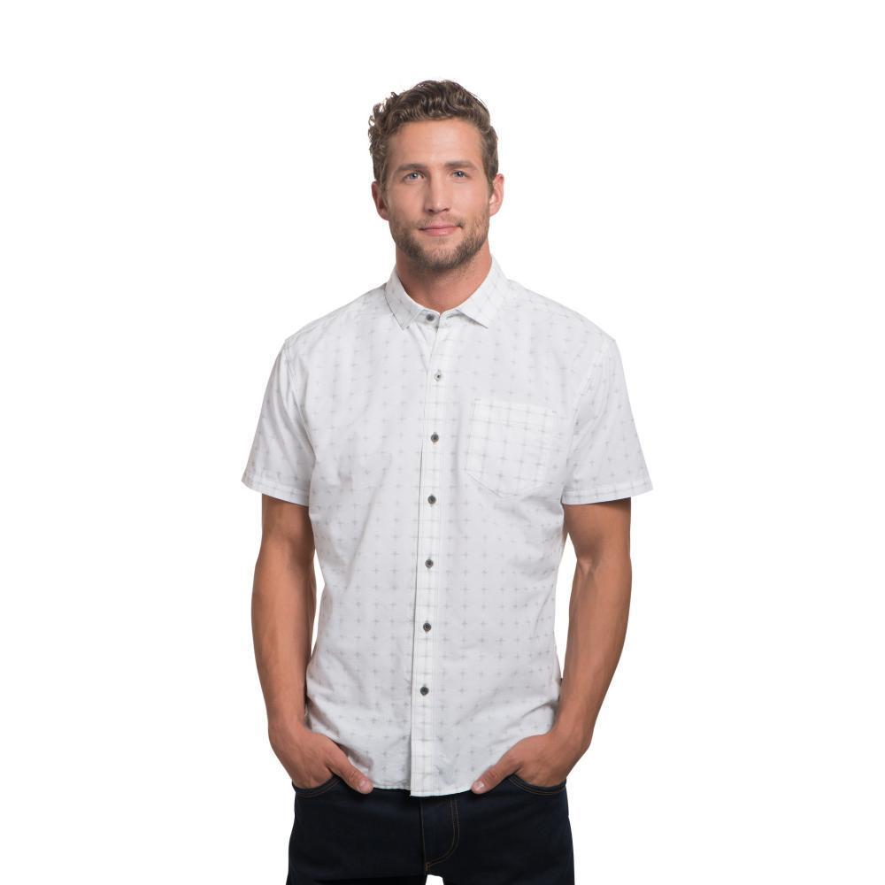 KUHL Men's Intrepid Short Sleeve Shirt WHITE