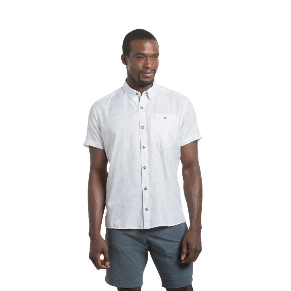 KÜHL Men's Krossfire Short Sleeve Shirt WHITE