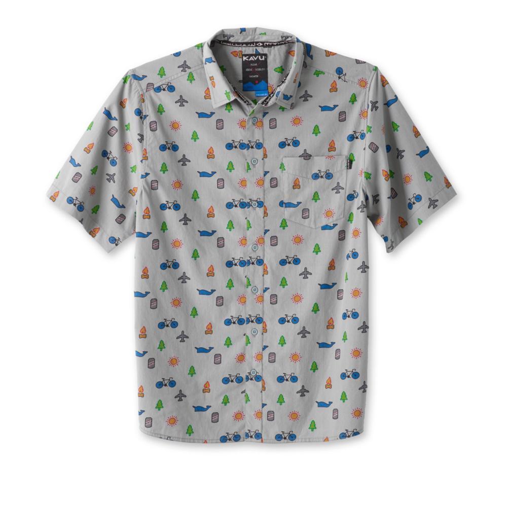 Kavu Men's Festaruski Short Sleeve Shirt CLOCKOUT