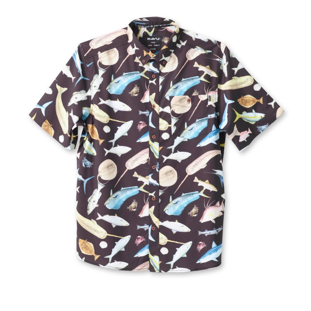 Kavu Men's River Wrangler Short Sleeve Shirt FISHFIESTA