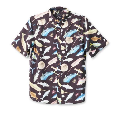 Kavu Men's River Wrangler Short Sleeve Shirt Fishfiesta