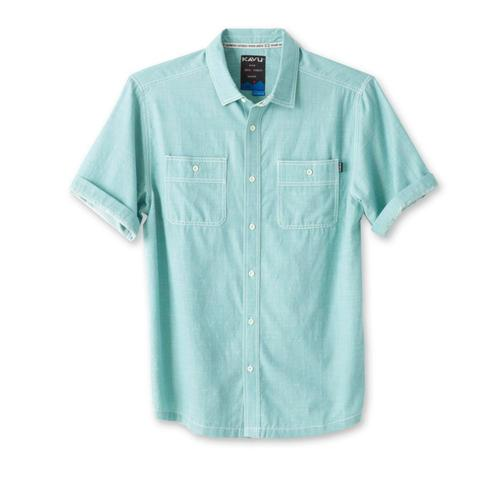 Kavu Men's Jacksonville Short Sleeve Shirt Aquifer