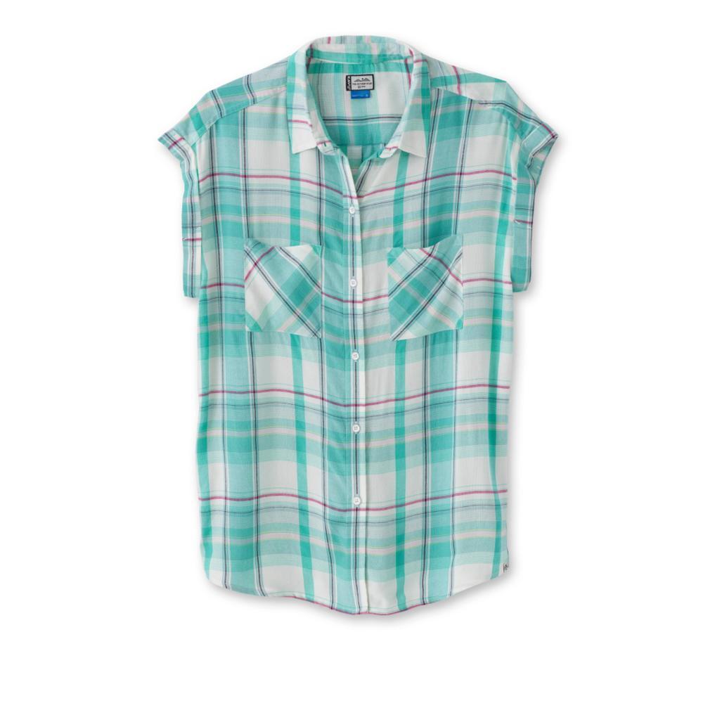 Kavu Women's Belfair Short Sleeve Shirt COASTAL