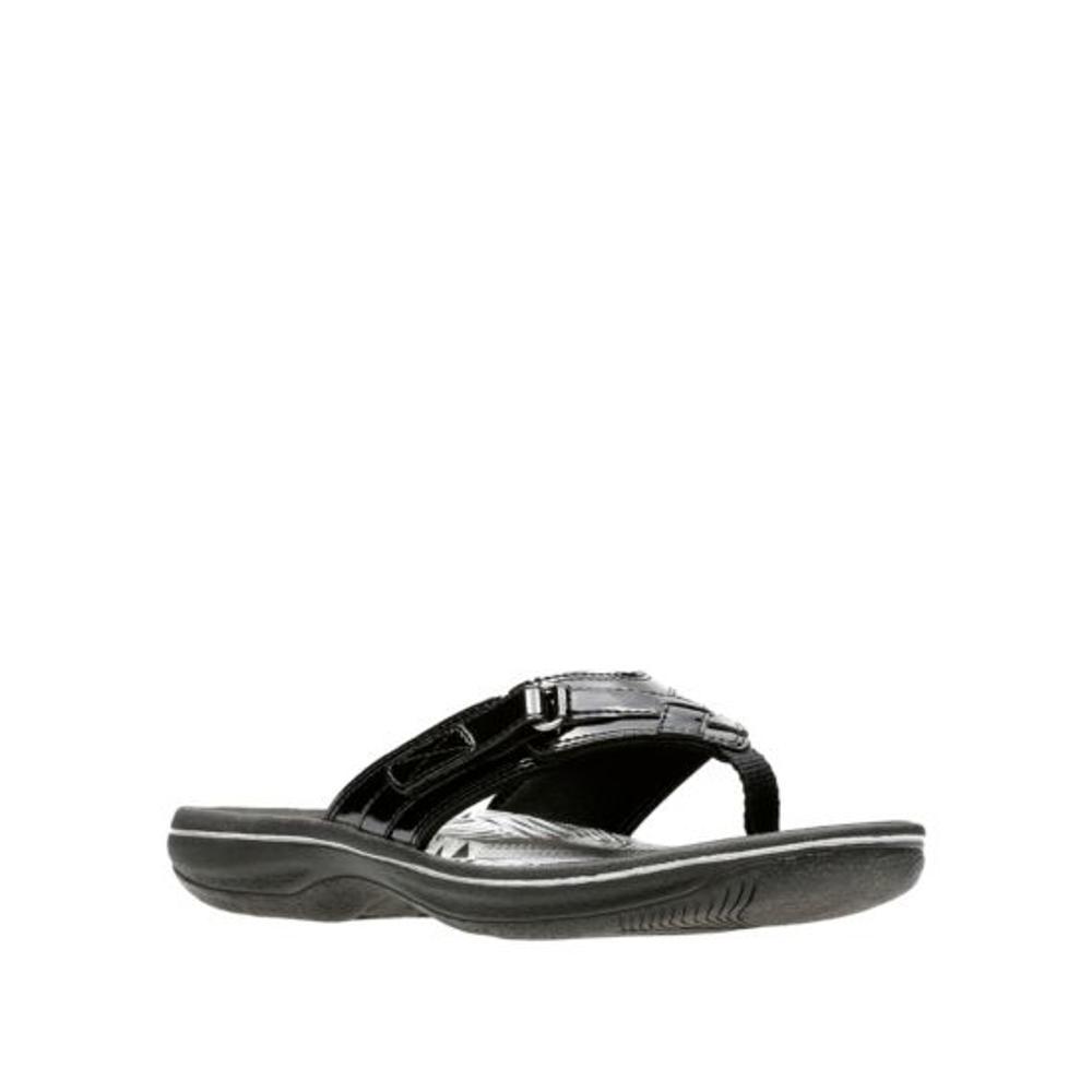 Clarks Women's Breeze Sea Flip Sandals BLACKPAT