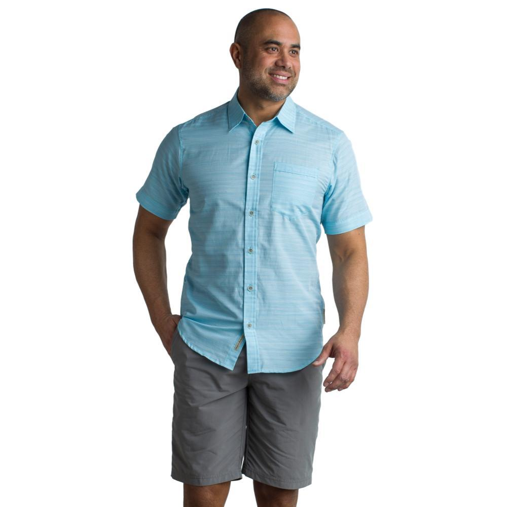 ExOfficio Men's Soft Cool Avalon S/S Shirt POOLSIDE