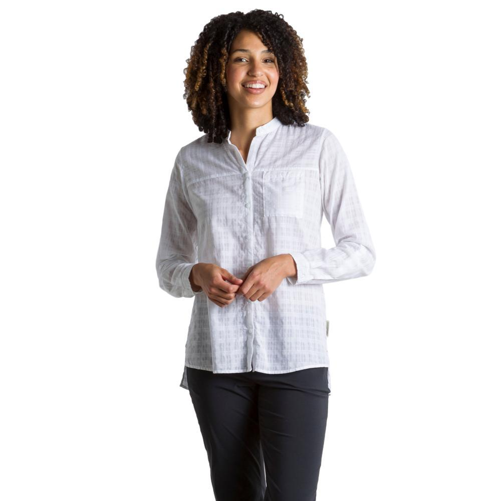 ExOfficio Women's BugsAway Collette L/S Shirt WHITE