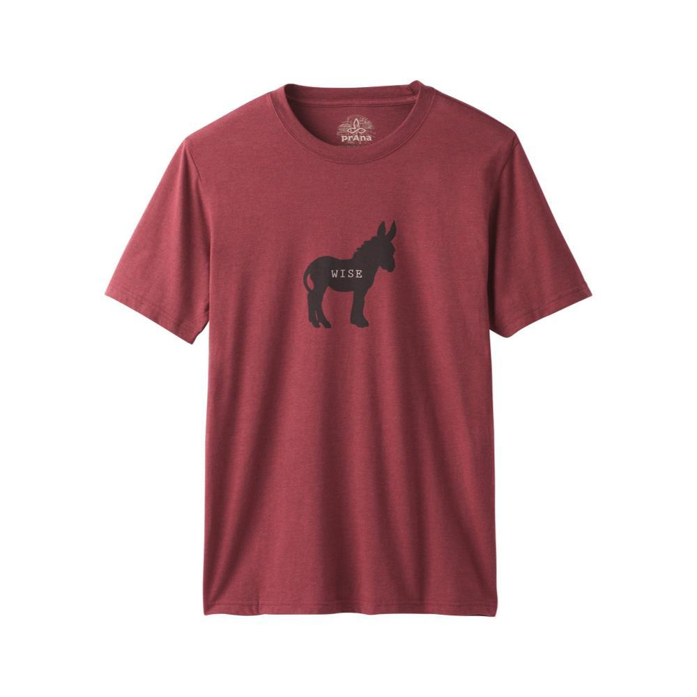 prAna Men's Wise Ass Journeyman T-Shirt RUSTEDROOF