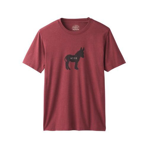prAna Men's Wise Ass Journeyman T-Shirt Rustedroof