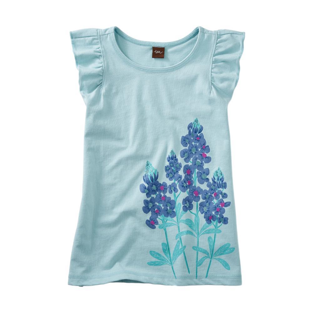 Tea Collection Girls Blue Bonnet Ruffle Knit Top CANALBLUE