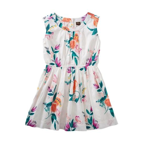 Tea Collection Girls Peach Flower Dress