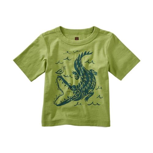 Tea Collection Infant Alligator Graphic Tee Peridot