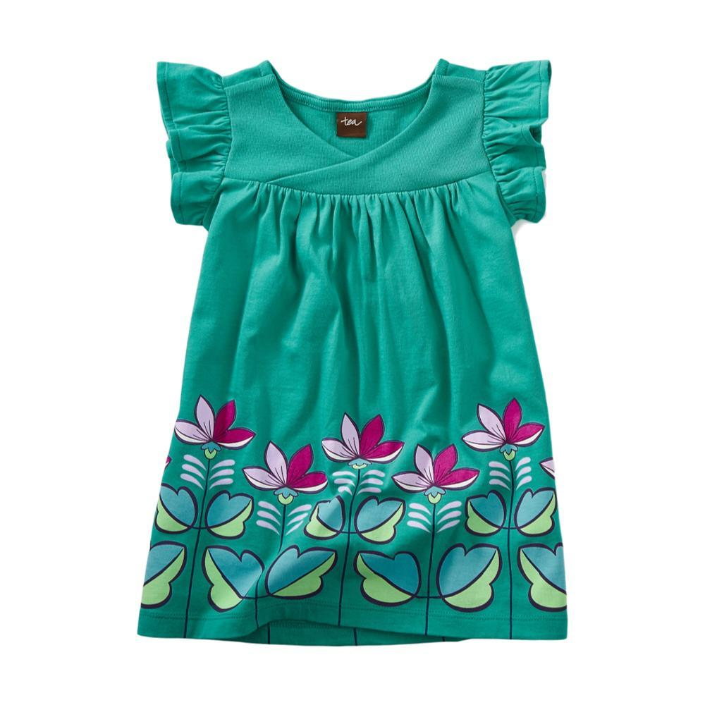Tea Collection Infant Graphic Wrap Neck Baby Dress GREENPOP