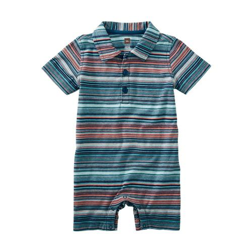 Tea Collection Infant Striped Polo Romper
