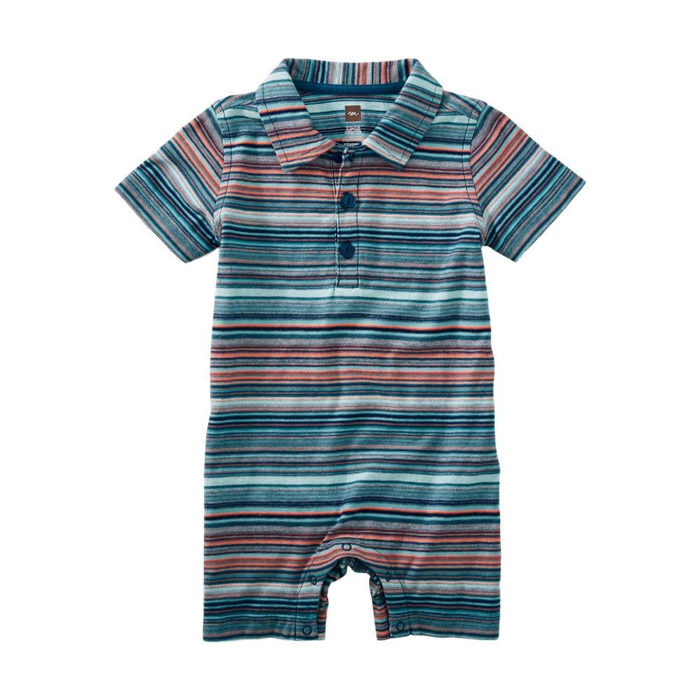 Tea Collection Infant Striped Polo Romper PAGODA