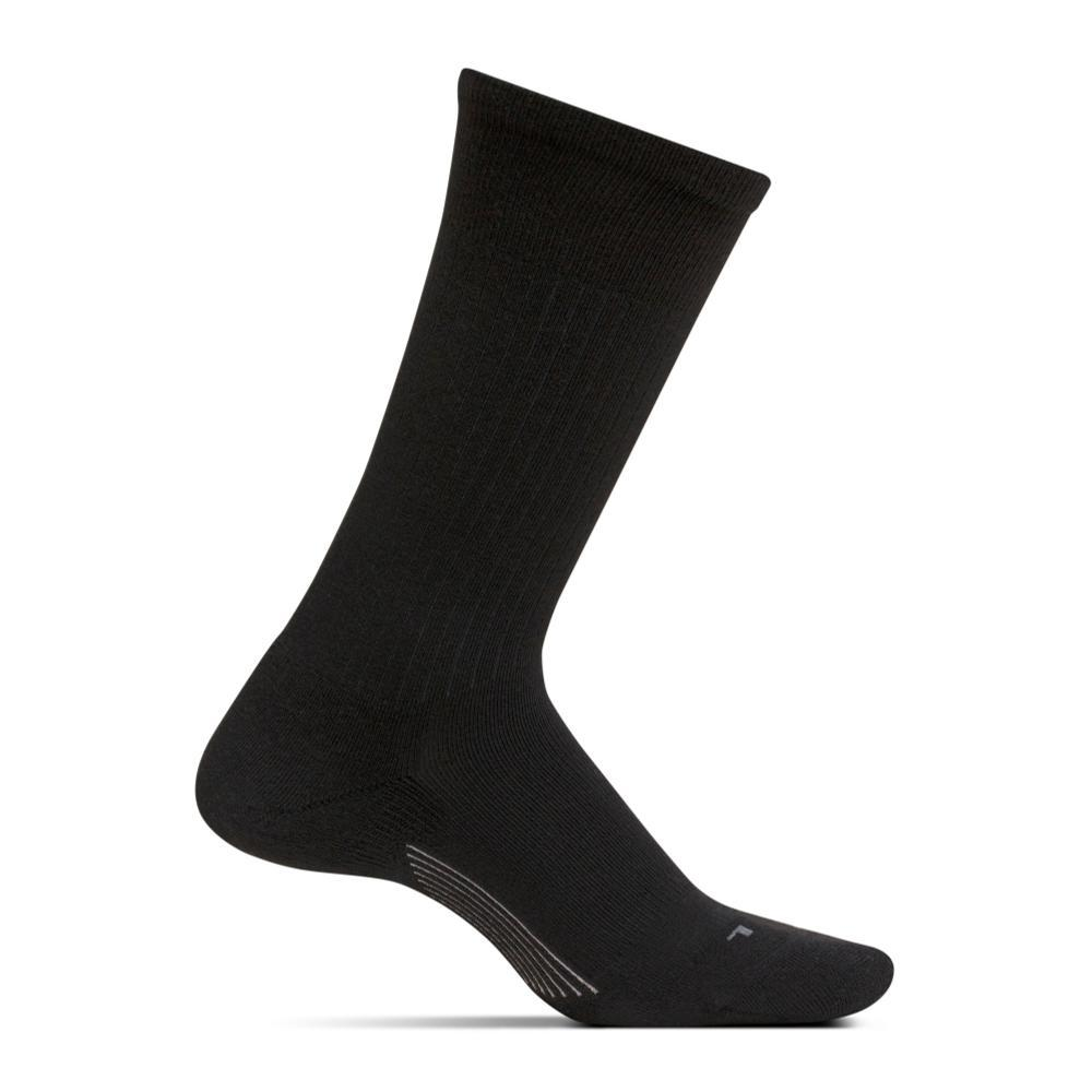 Feetures Men's Wide Rib Ultra Light Crew Socks BLACK