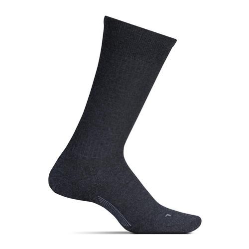 Feetures Men's Classic Rib Cushion Crew Socks