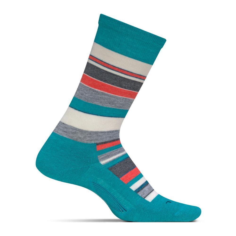 Feetures Women's Be Bold Cushion Crew Socks TURQUOISE
