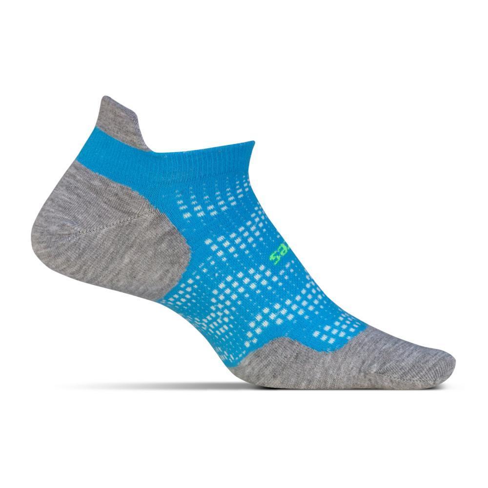 Feetures Unisex High Performance Cushion No Show Tab Socks TROPBLUE