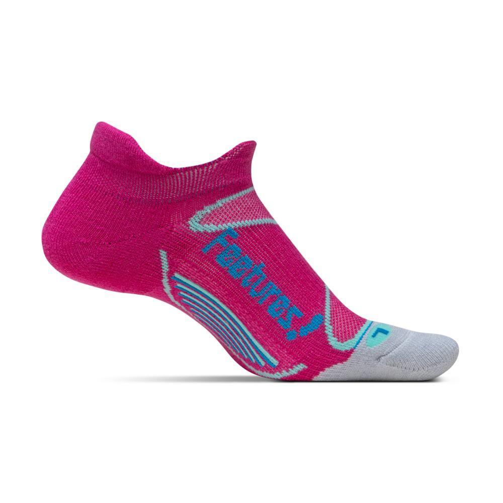 Feetures Unisex Elite Merino+ Cushion No Show Tab Socks PINKBLUE