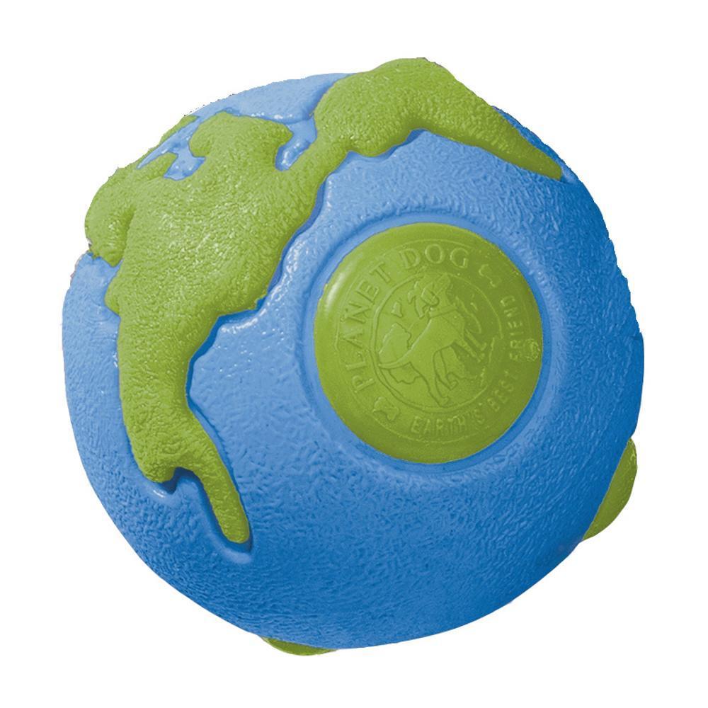 Planet Dog Orbee Earth Ball - Medium BLUEGRN