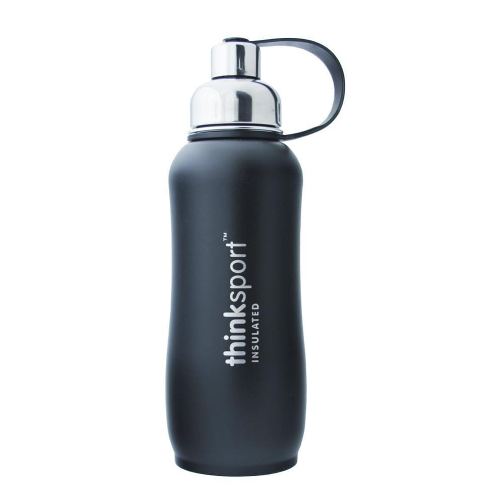 Thinksport Insulated Sports Bottle Powder Coated - 25oz BLACK