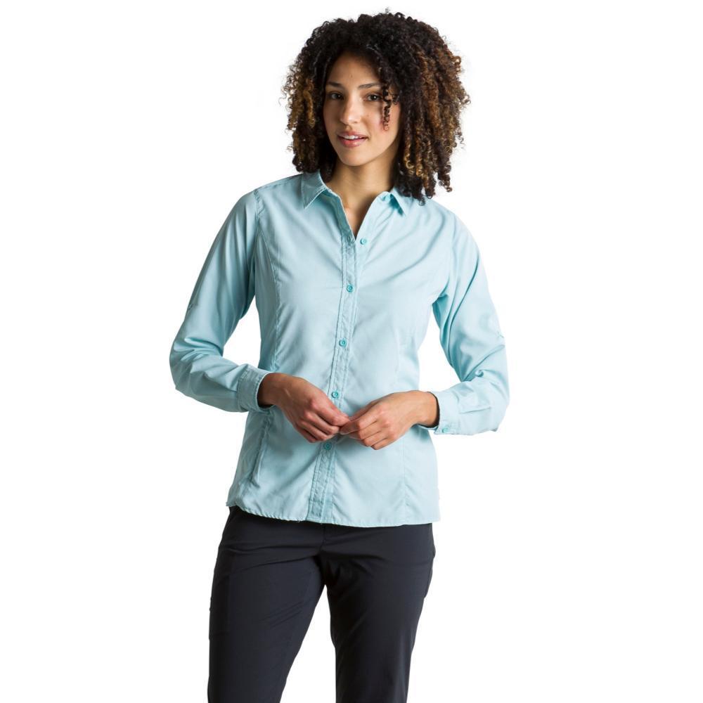 ExOfficio Women's BugsAway Brisa L/S Shirt SALTWATER