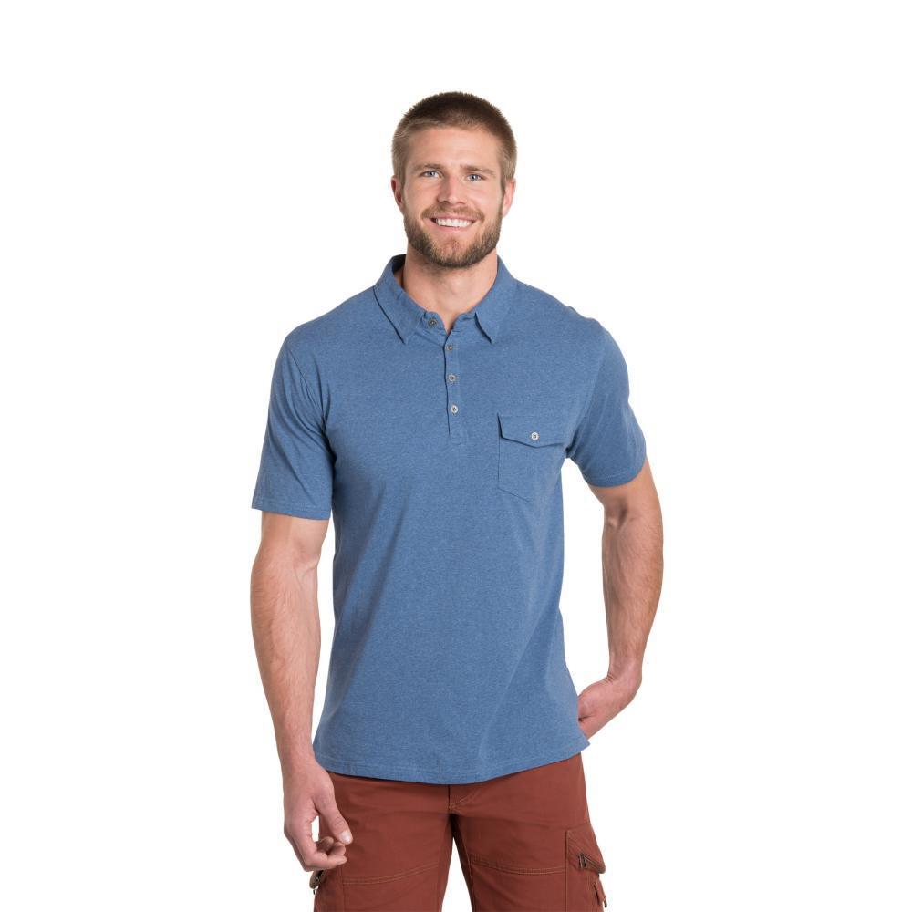 KUHL Men's Stir Polo Shirt LAKEBLUE