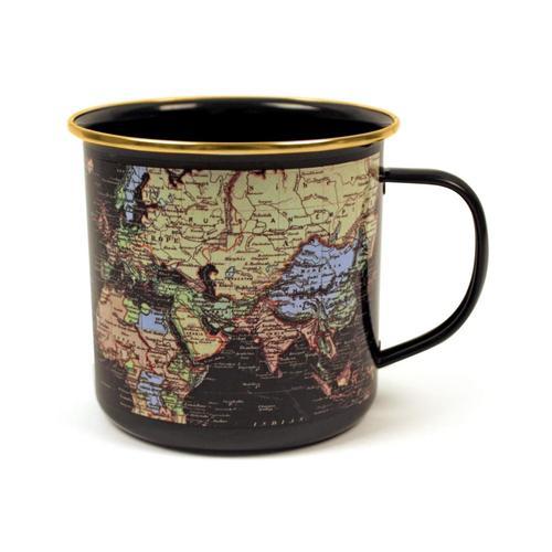 Gift Republic World Enamel Mug - Blue Blue