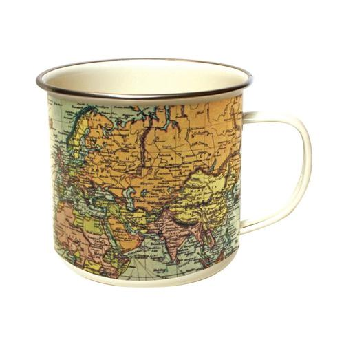 Gift Republic World Enamel Mug - Pale Pale
