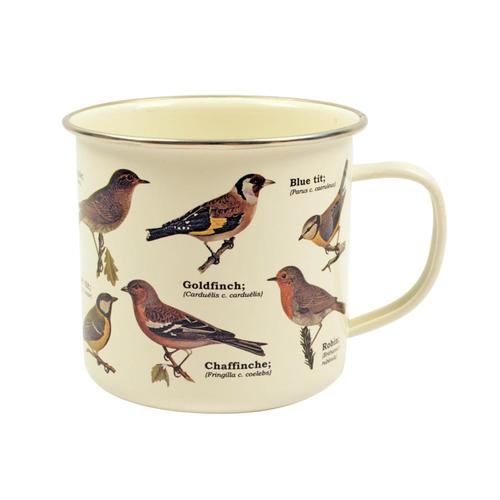 Gift Republic Garden Birds Enamel Mug