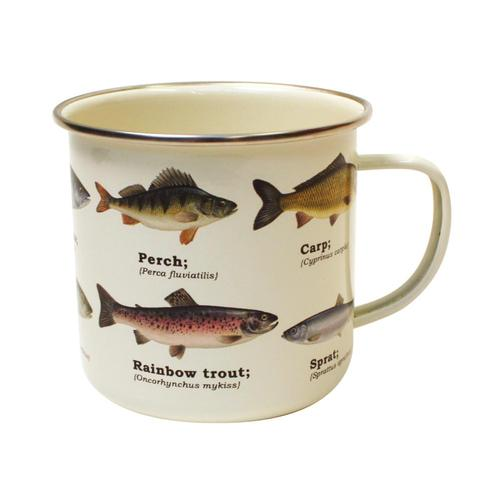 Gift Republic Multi Fish Enamel Mug