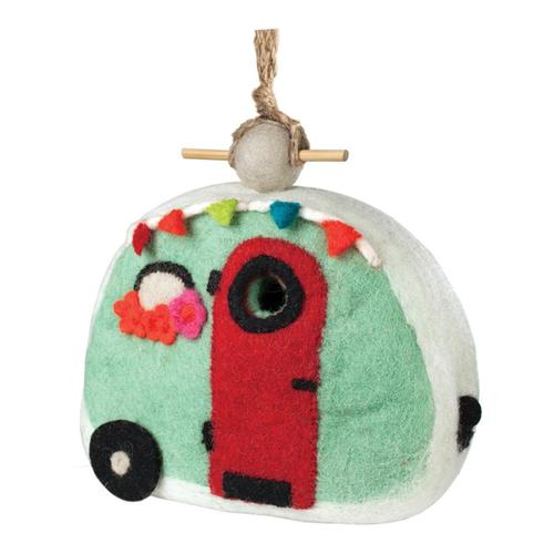 Tibet Collection Birdhouse: Retro Camper .