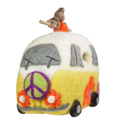 Tibet Collection Birdhouse: Magic Bus .