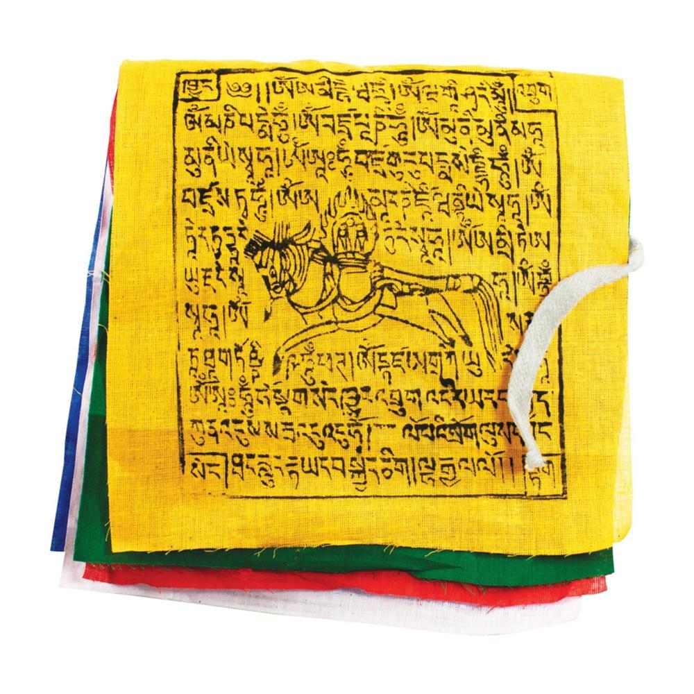 Tibet Collection Prayer Flag: Gu-Chu-Sum Windhorse - Small MULTI