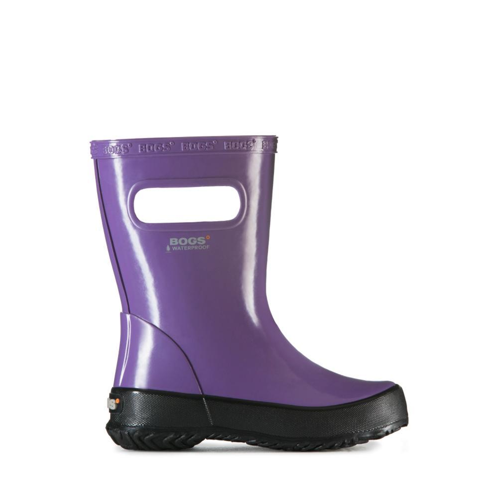 Bogs Kids Skipper Solid Lightweight Waterpoof Boots PURPLE