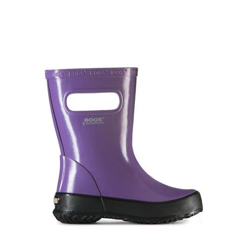 Bogs Kids Skipper Solid Lightweight Waterpoof Boots Purple