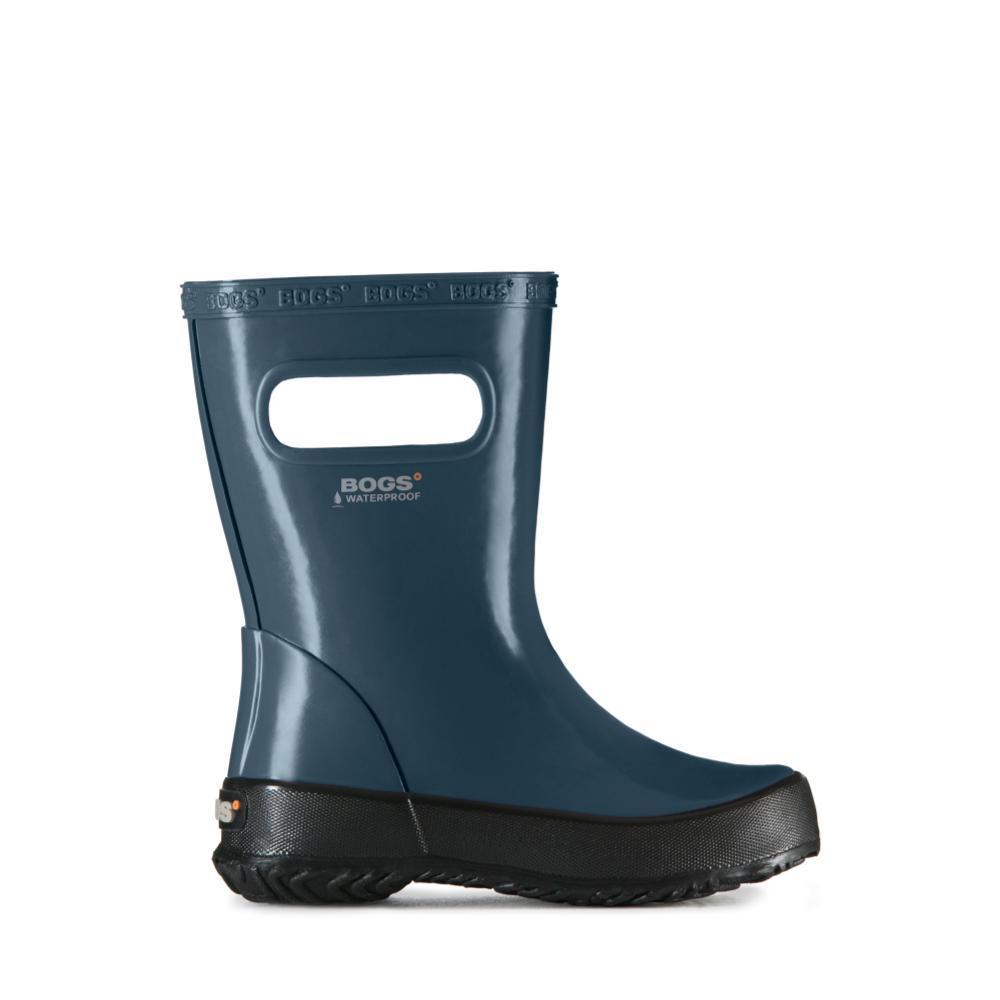 Bogs Kids Skipper Solid Lightweight Waterpoof Rain Boots NAVY