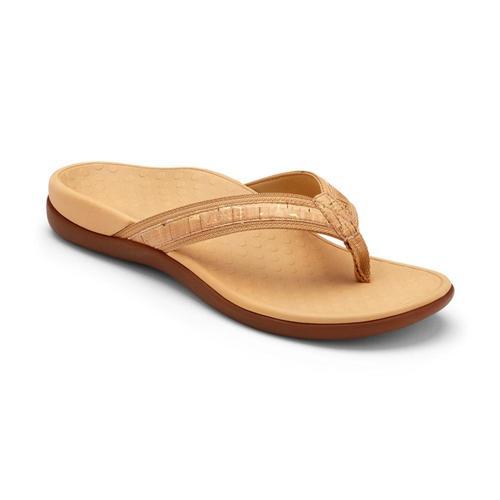 Vionic Women's Tide II Toe Post Sandals Goldcork