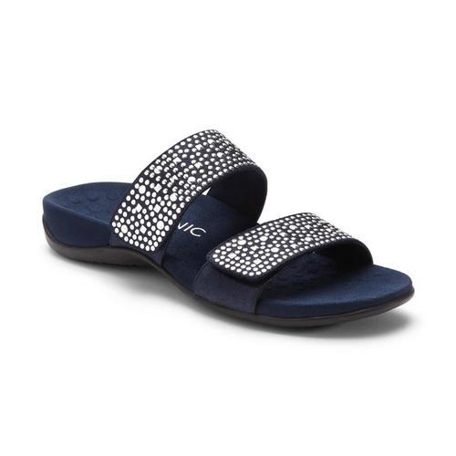 Vionic Women's Samoa Slide Sandals Navy