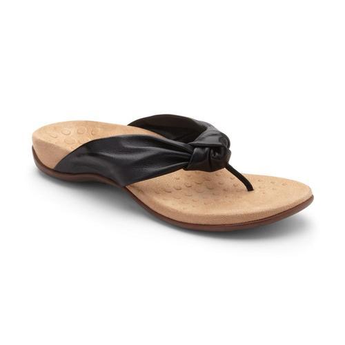 Vionic Women's Pippa Toe Post Sandals Black