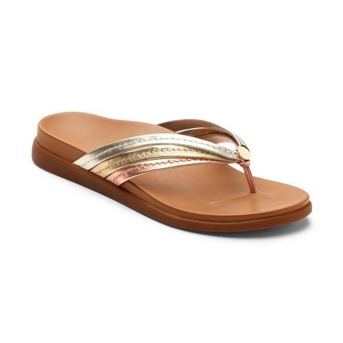 Vionic Women's Catalina Toe Post Sandals Mixmetal