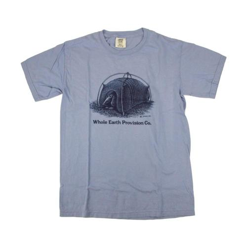 Whole Earth Provision Unisex Classic Armadillo T-Shirt Washdenim