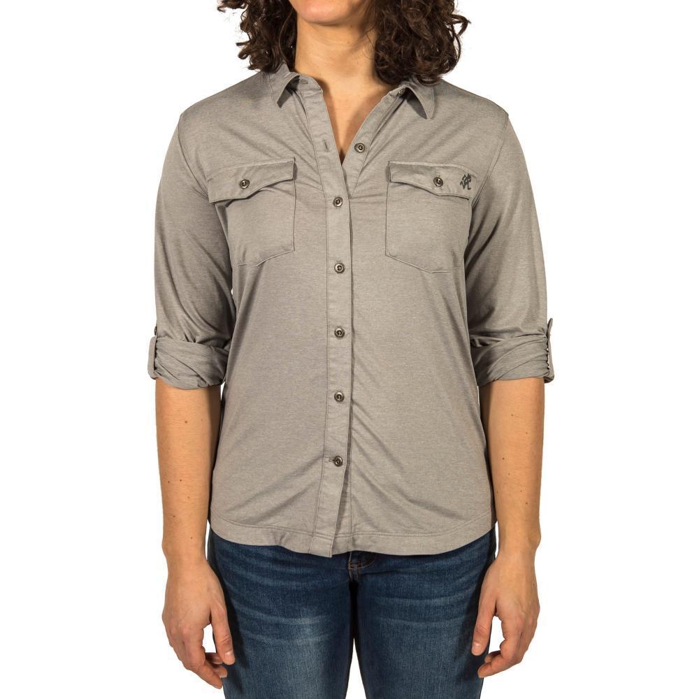 Gramicci Women's Traveler Convertible Long Sleeve Shirt HGREY