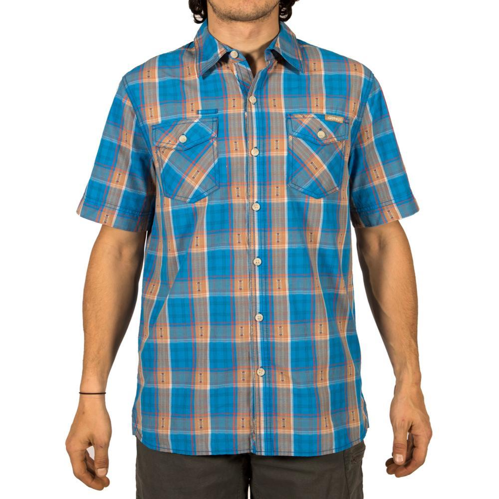 Gramicci Men's Link-Up Short Sleeve Shirt ASTERBLUE